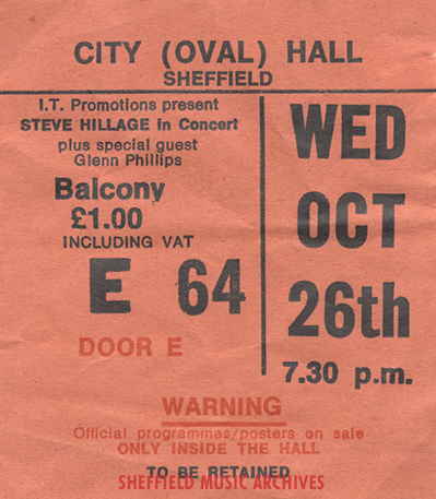 Steve Hillage Sheffield City Hall 1977