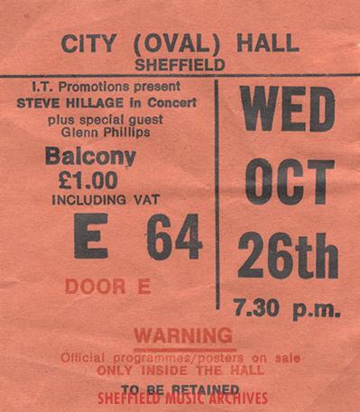 Steve Hillage Sheffield City Hall 1977