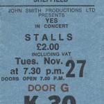 Yes Sheffield City Hall 1973