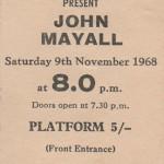 JOHN MAYALL SHEFFIELD CITY HALL November 9. 1968
