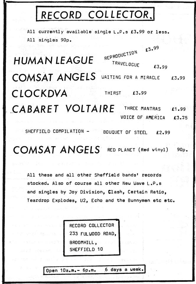 record collector flyer