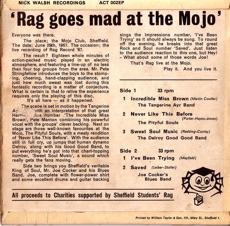 Rag goes mad at the Mojo